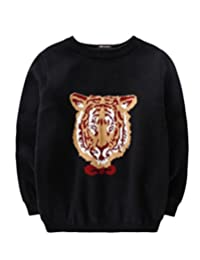 MFrannie Boys Jacquard Tiger Thicken Casual Wear Long Sleeve Sweater