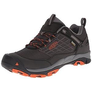 KEEN Men's Saltzman Waterproof Outdoor Shoe, Raven/Koi, 8 M US