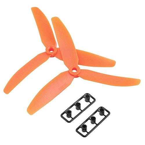 TOOGOO(R) 5030 3-lames Helice de drive direct Prop CW/CCW pour RC Avion Aeronef (Orange)