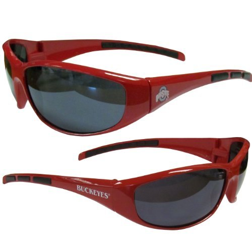 NCAA Collegiate Team Logo Sports Wrap Sunglasses - Choose Team! (Ohio State Buckeyes) (Ncaa Team Logos)