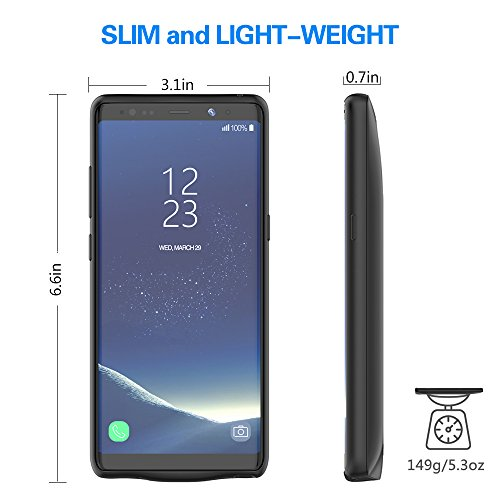 sale retailer 59660 c70d5 RUNSY Galaxy Note 8 Battery Case, 5500mAh Rechargeable Extended Battery  Charging Case for Samsung Galaxy Note 8, External Battery Charger Case,  Backup ...