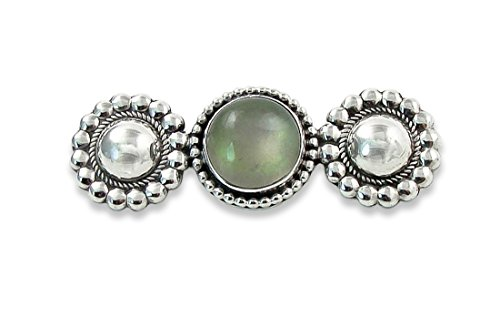 Moonstone Silver Brooch (Navajo Silver Moonstone Pin Brooch)