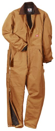 Dickies Men's Big-Tall Premium Insulated Duck Coverall, Brown Duck, 5X