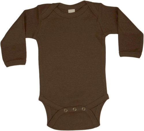 Chocolate Baby Onesie - Long Sleeve (Milano Fine Cotton)