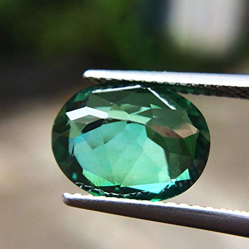 Lovemom 4.28ct Natural Oval Coating Green Topaz Brazil #R by Lovemom (Image #5)