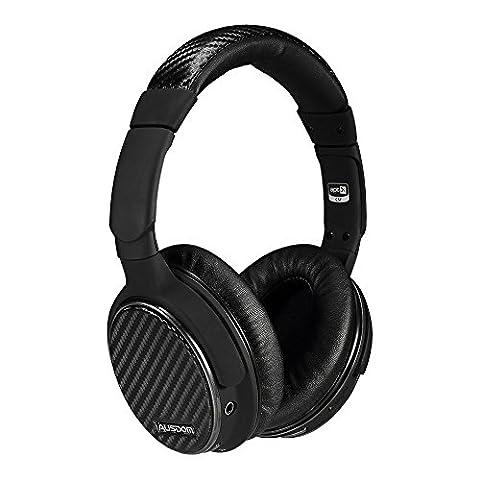 Ausdom M05 Over-ear Bluetooth Stereo APTX headphone Wireless Hi-fi Skype Chat with Noise Canceling Microphone