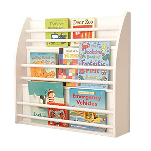 Estantería Infantil Estante para Colgar En La Pared Estante para Libros Blanco Estante para Libros De Kindergarten Estante...