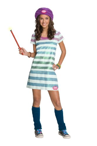 (Wizards of Waverly Place Alex Striped Dress Costume, Medium)