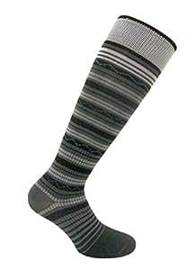 Travelsox Womens Compression Socks TS1167 Stripe Ladies Silver Drystat Dress, Travel, Play, Ant, Small