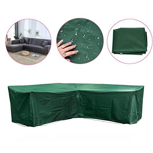 (LYSOA Garden Outdoor Furniture Corner Rattan L Shape Slipcover Waterproof Sofa Sectional)