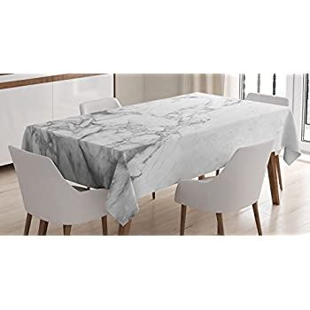 Apartment Decor Tablecloth By Ambesonne, Old Fashion Grungy Cultured  Marbling Motif Formation Lines Artsy Design