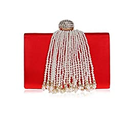 Beaded Glitter Clutch Bag