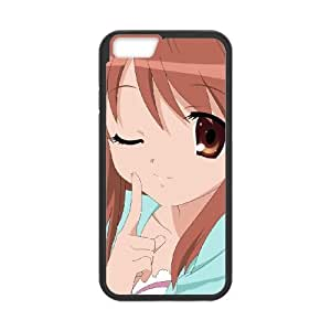 anime girl winking iPhone 6 4.7 Inch Cell Phone Case Black 53Go-470977