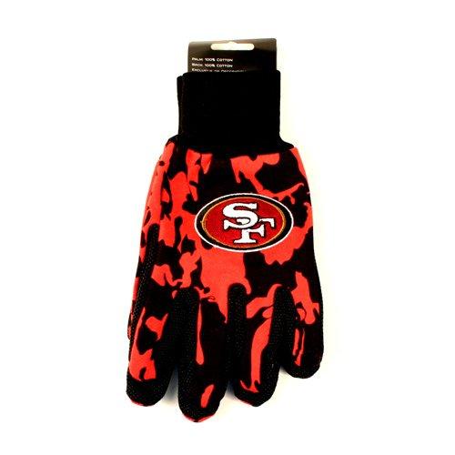 San Francisco 49ers迷彩スポーツUtiiltyグローブチームカラーで B00PHK6BXI