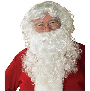 Sillycone Inc. Economy Santa Beard & Wig Set Adult Size One-Size by Sillycone (Set Figure Economy)