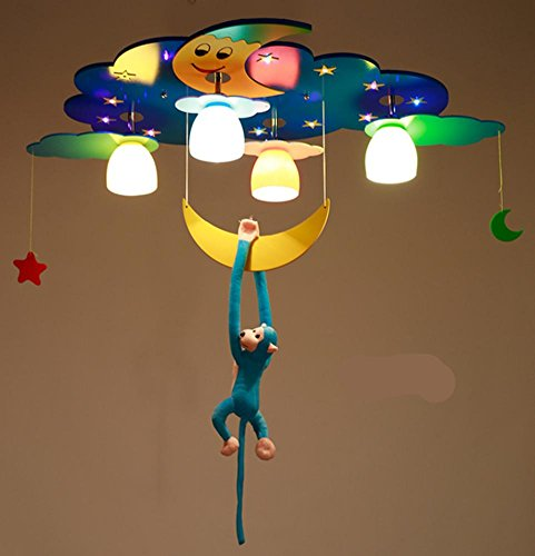 70 Cm Ceramic (DGS Modern Glass Kids Room Lighting Led Ceiling Lamps Boys & Girls Room Bedroom Lighting Creative Cartoon Chandelier Star Moon Lighting , 2)