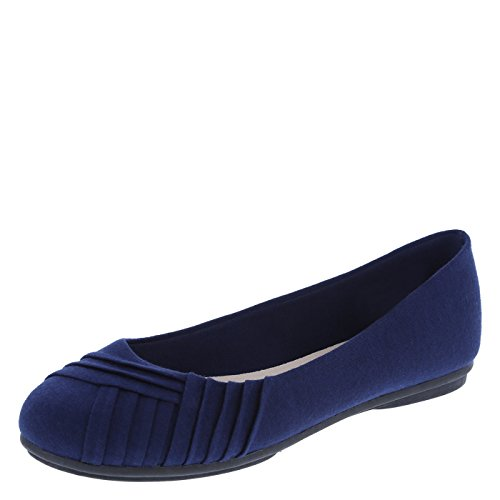 Lower East Side Women's Navy Women's Bree Pleated Flat 7 Regular