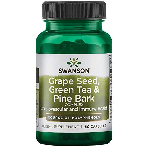 Swanson Grape Seed, Green Tea & Pine Bark Complex 60 Capsules