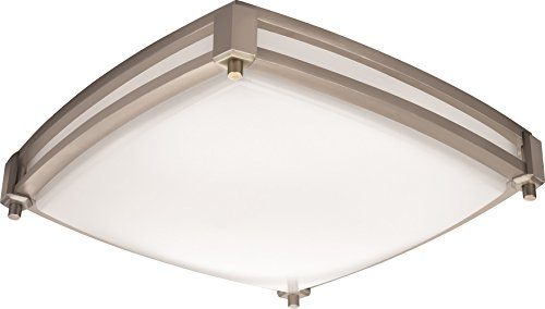 Lithonia Lighting FMSSATL 13 14830 BN M4 Antique Brushed Nickel LED Saturn Flushmount