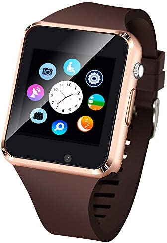 Smart Watch, SmartWatch for Android Phones with SD SIM Card Slot Touch Screen Watch Phone with Camera Pedometer Compatible with Bluetooth for iOS Partial Functions Sweatproof for Kids Men Women