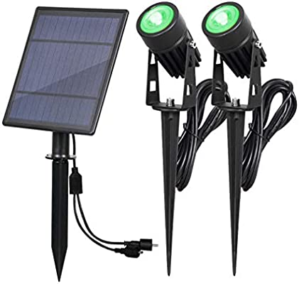 YUHAN - Foco solar 2 en 1 para exteriores, resistente al agua, luz solar LED para paisaje,