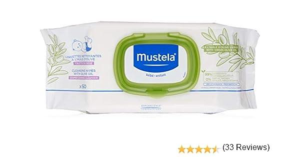 Mustela lingettes nettoyante à lhuile dolive: Amazon.es: Salud y cuidado personal