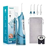 Cordless Water Flosser Oral Irrigator - TURATA IPX7 Waterproof 3-Mode USB Rechargeable Professional Portable Dental Water Jet With 4 Jet Tips For Braces and Teeth Whitening, Travel and Home