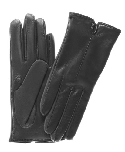 Fratelli Orsini Women's Touchscreen Italian Cashmere Lined Leather Gloves Size 6 Color Black by Fratelli Orsini