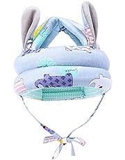 lahomia Sombrero protector ajustable suave para bebés y niños pequeños Casco Gorra de seguridad Arnés para la cabeza Protector de cabeza