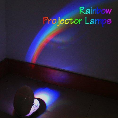 Vktech Room Romantic Rainbow LED Projector Lamp Night Light Room Decoration Color