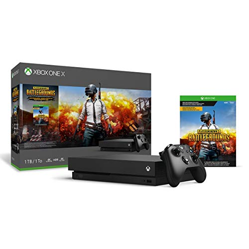 Xbox One X 1TB Console – PLAYERUNKNOWN'S BATTLEGROUNDS Bundle [Digital Code] (Renewed)