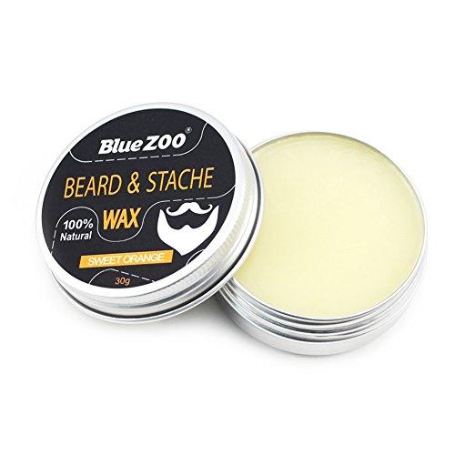 Barba Bálsamo Bigote Cera Cuidado Barba Hidratante para hombres Facial con ingredientes naturales(Sweet Orange)