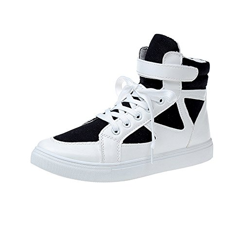 GAOLIXIA New White Optional Shoes Colors Shoes Camouflage Students High Shoes 3 Flat Female Sports Spring Shoes Black Canvas rRwxrq