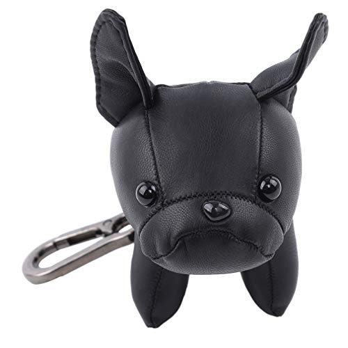 Bulldog Keychain - GloryMM French Bulldog Leather Keychain Bag