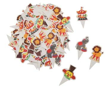 Taka Co Circus Party Decorations 100pcs Circus Theme Party Cupcake Toppers Cute Animal Baby Shower Cake Topper Birthday New Year Party Decoration Supplies