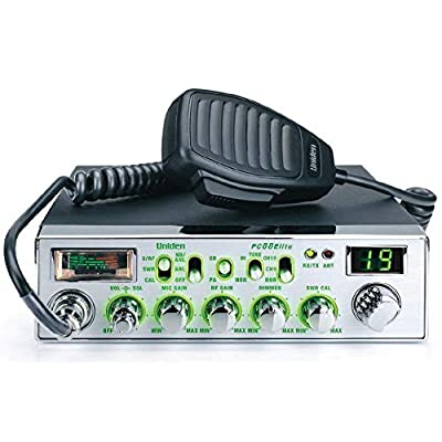 Uniden PC88ELITE - 40-Channel Trucker's CB with Enhanced Night Vision Display, Analog S/RF/SWR/Mod Meter, Instant Channel 9/19, Variable Dimmer Control, AM/PA, 40 Channel: Automotive