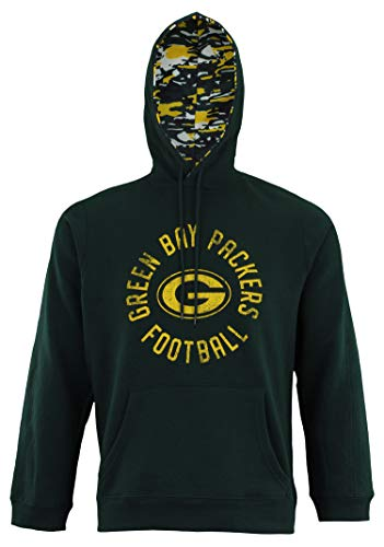 (Zubaz NFL Men's Team Camo Lined Pullover Hoodie, Green Bay Packers XX-Large)
