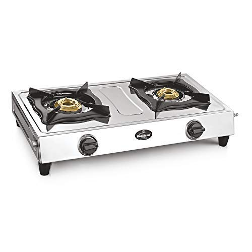 Sunflame Shakti Stainless Steel 2 Burner Gas Stove, Manual Ignition