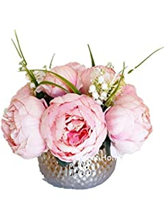 Amazon.com: Peony Bouquet in Chinoiserie Vase: Home & Kitchen on church flowers for vases, bridesmaid bouquets for vases, funeral flowers for vases, feather arrangements for vases, artificial flowers for vases, fairy lights for vases, party decoration for vases,