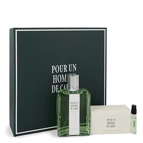 Çáróñ Pour Homme by Çáróñ for Men Gift Set - 4.2 oz Eau De Toílette Spray + 3.3 oz Sap + .06 oz Vial (sample)