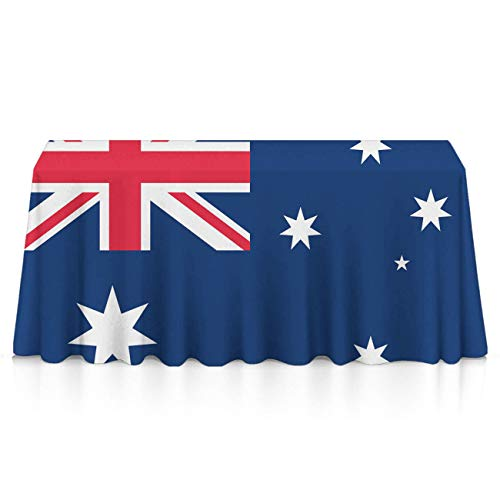GOAEACH Premium Waterproof Table Cover, Square & Rectangular 3D Print Australia Official Government Flag Table Cloths, Waterproof Wrinkle Free Table Toppers - Dinning Tabletop Decoration -