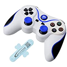 A-SZCXTOP Dualshock PS3 Bluetooth Game Controller Wireless Rechargeable Gamepad Joysticks Game Handle for Playstation 3