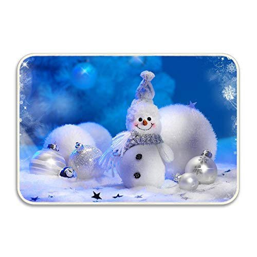 FunnyLife Christmas Ornaments Door Mat for Bedroom Bathroom Living Room Kitchen Home Decorative 18x30 inch Lightweight