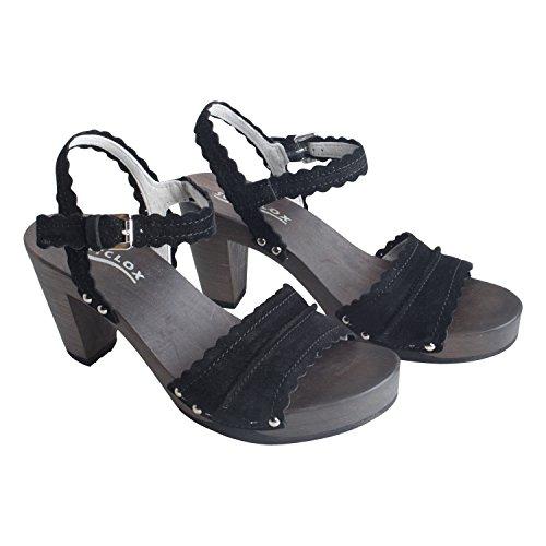 Softclox Damen Sommerschuh Sandalette Felipa Kaschmir von Farbe Schwarz Neue Kollektion Frühjahr Sommer