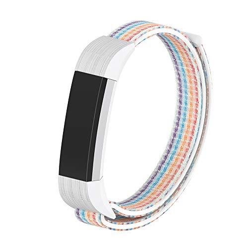 CosyZanx Compatible with Fitbit Alta Bands Fitbit Alta HR Soft Nylon Woven Sport Wristbands for Men Women Lightweight Replacement Straps Accessories for Fibit Alta Fitbit Ace (Best Fitbit Bands Alta)