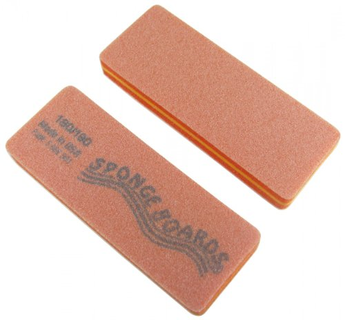 (Orange Sponge Board (Medium) Block Shape Nail File 50 Pack)