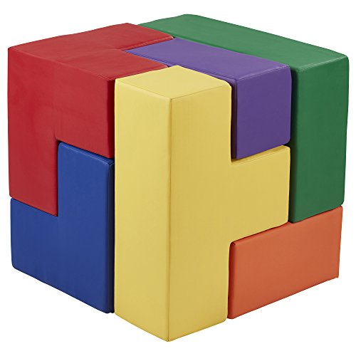 ECR4Kids SoftZone Clever Cube 3D Puzzle, Fun Foam Motor & Cognitive Development Toy for Toddlers/Kids, 2 Foot Cube (Assorted)