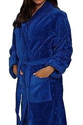 Royal Blue Terry Velour Bathrobe 50\