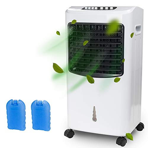 Display4top Portable Air Conditione - Single-Cooling Type air Cooler,Evaporative Quiet Electric Fan with Ice Crystal Box,Suitable for Home,Dorms,Office