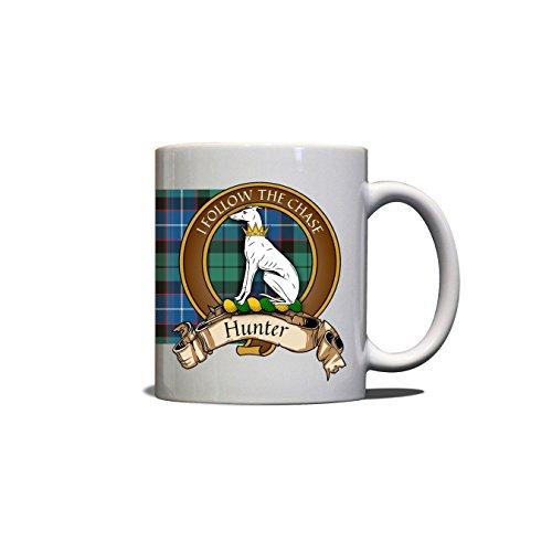 Hunter Scottish Clan Crest Motto Tartan Mug